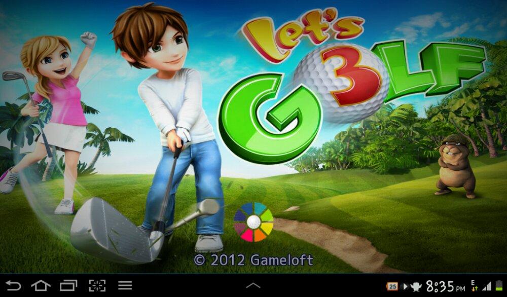 Bermain Let's Golf!3 di Tablet Android